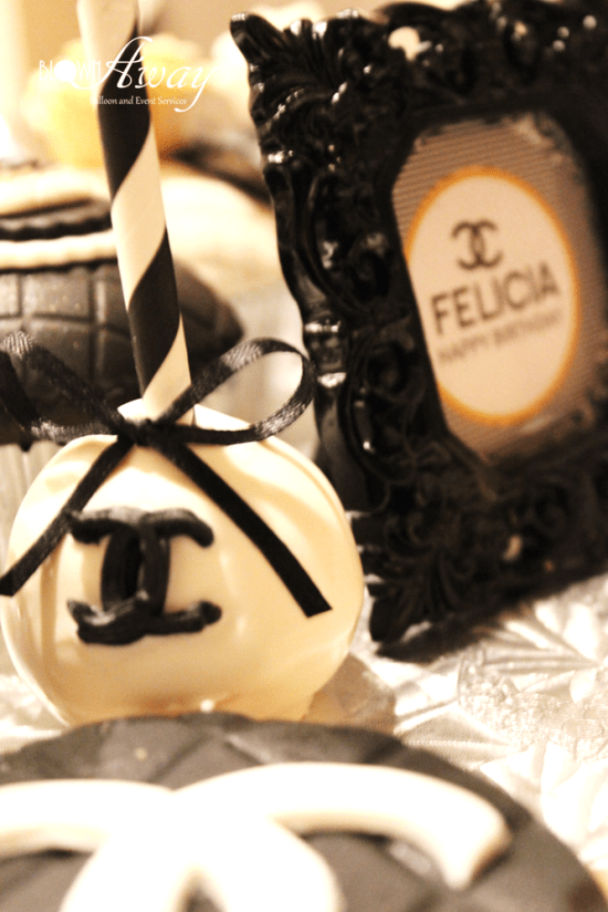 Fabulous and Classy Coco Chanel Party cake pops