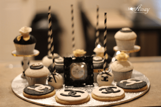 Fabulous and Classy Coco Chanel Party cookies