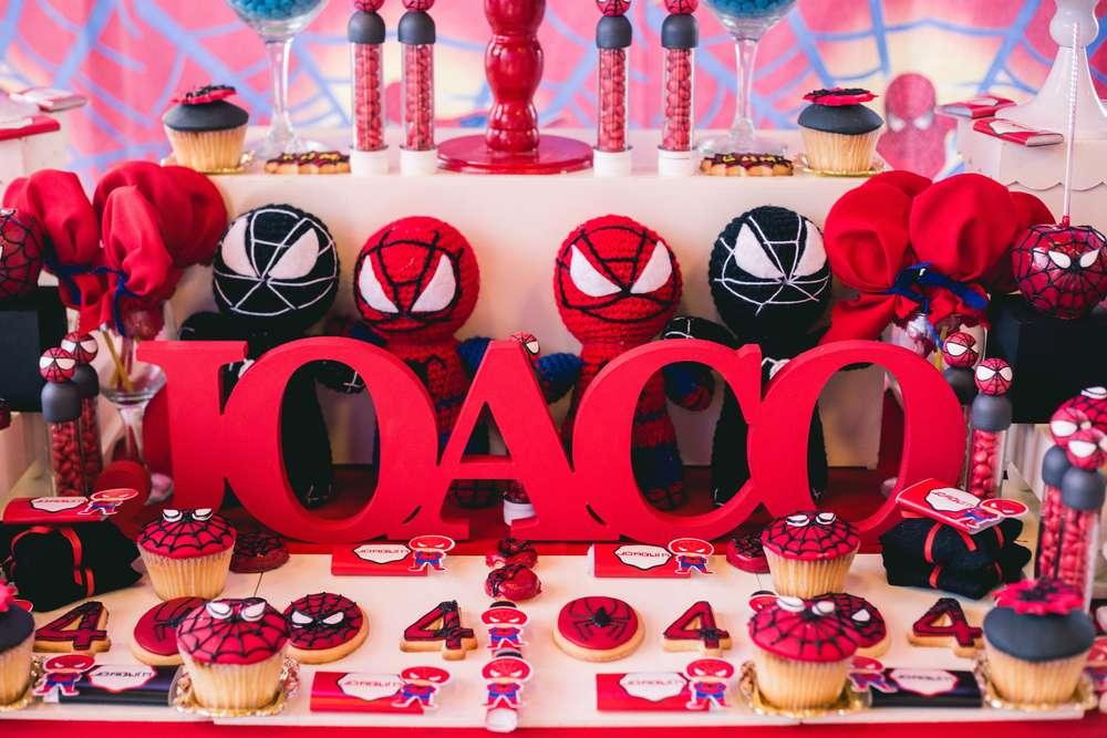 red  u0026 white spiderman birthday party