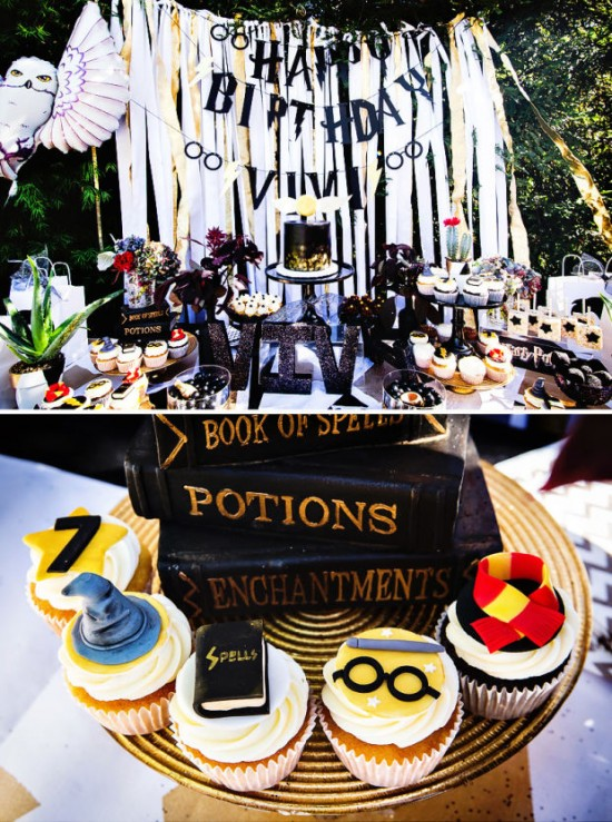 Modern-Harry-Potter-Party-Spells-Potions-Cupcakes