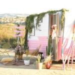 Outdoor Vintage Pink Camper Birthday Party