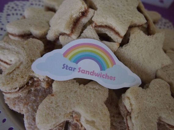 Rainbow-Unicorn-Birthday-Party-Star-Sandwiches