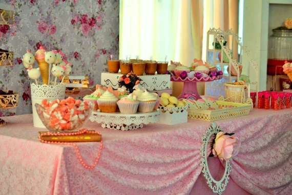 Vintage Chic Hello Kitty Party Birthday Party Ideas Themes