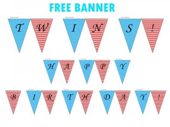 free printable dr seuss baby shower birthday party banner