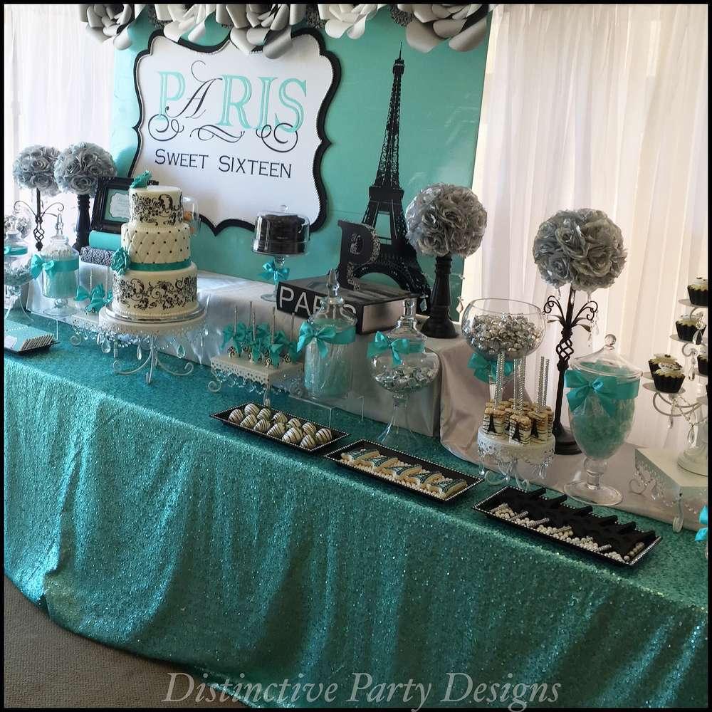 Sweet Sixteen Paris Style Birthday Party Ideas