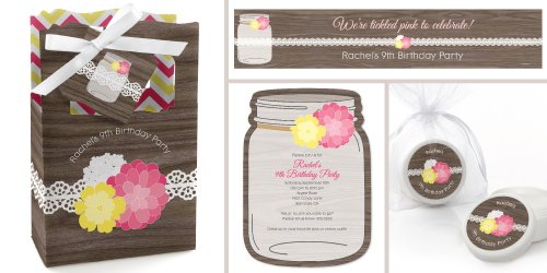 Rustic Floral - Birthday Party Theme