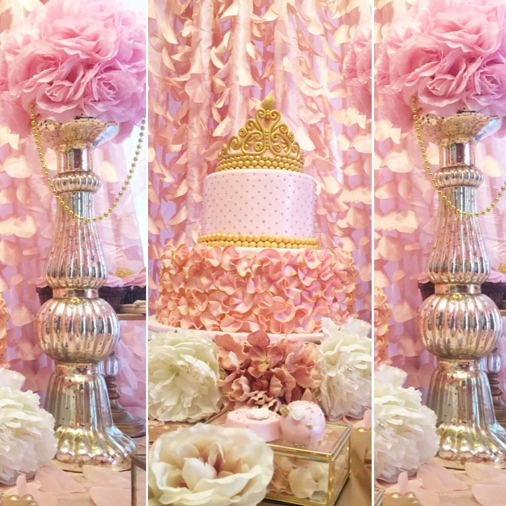 golden white and pink princess birthday party birthday party ideas themes. Black Bedroom Furniture Sets. Home Design Ideas