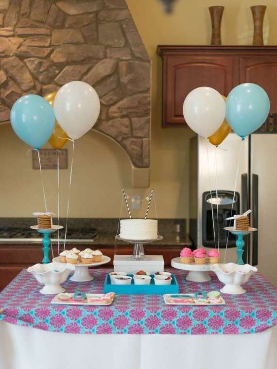 Glittering-Spa-Birthday-Party-Dessert-Table