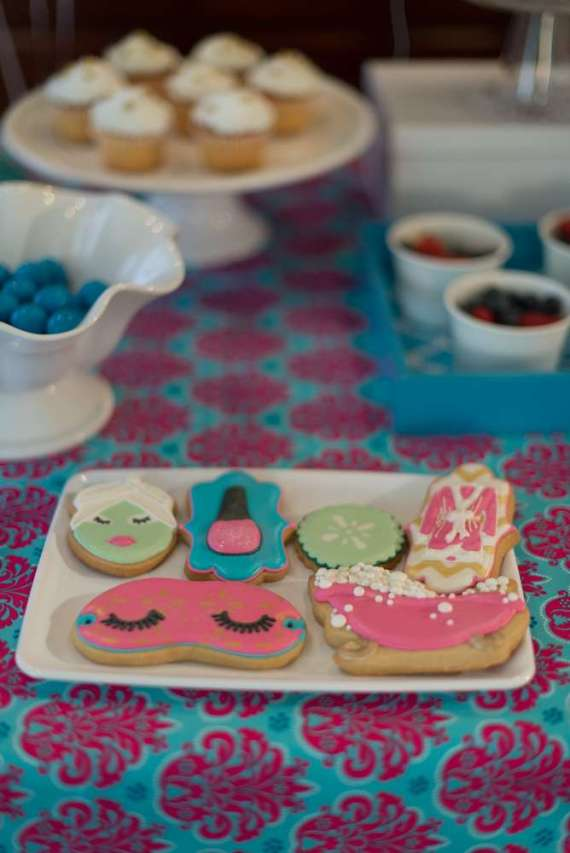 Glittering-Spa-Birthday-Party-Sugar-Cookies