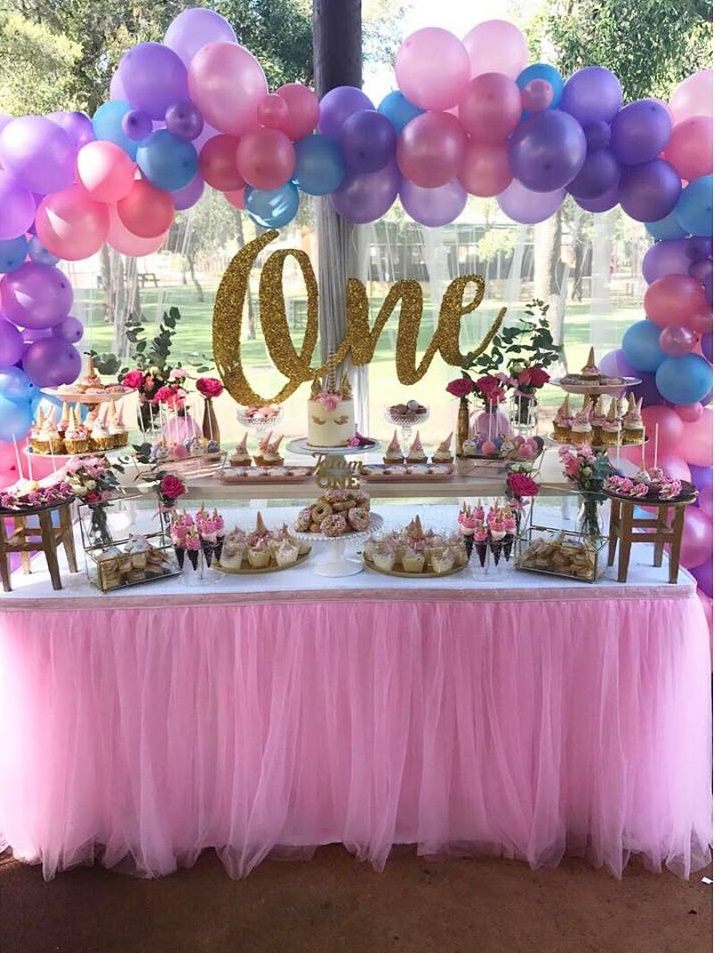 Magical unicorn first birthday party birthday party for 1st birthday hall decoration ideas