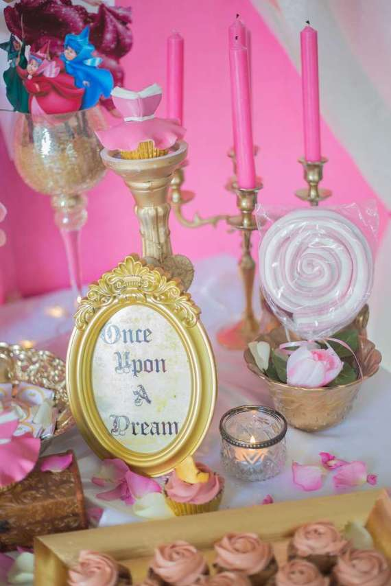 Classic-Sleeping-Beauty-Birthday-Party-Dessert-Table