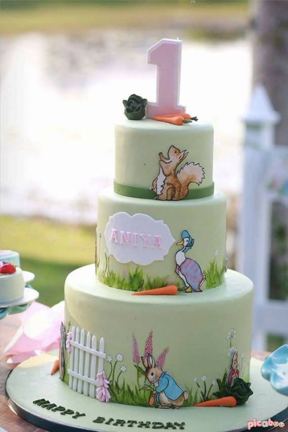 Whimsical-Peter-Rabbit-1st-Birthday-Cake