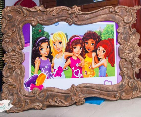 Modern-Lego-Friends-Birthday-Framed-Graphic