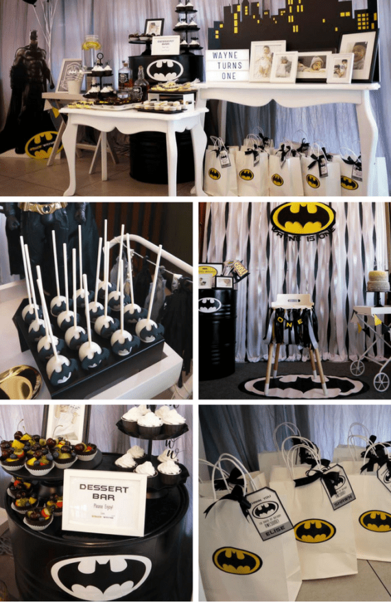 Batman Themed Birthday Party by Party Nutty