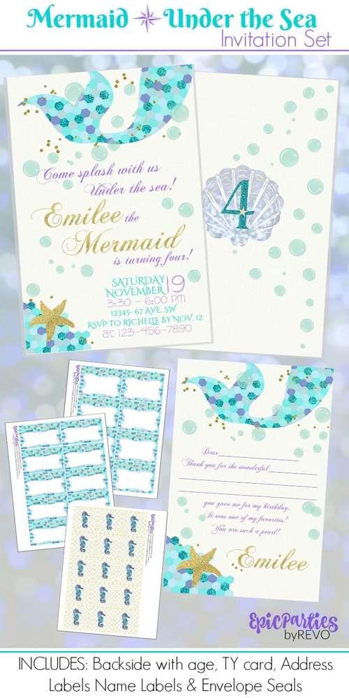 Under The Sea Mermaid Birthday Adventure - Birthday Party Ideas & Themes