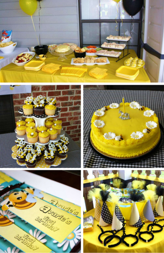 Bee Themed Birthday Party