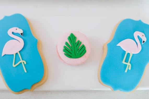 Tropical-Flowers-And-Flamingos-Birthday-Cookies