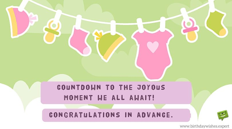 A Bundle of Joy Soon in the Family Baby Shower Wishes
