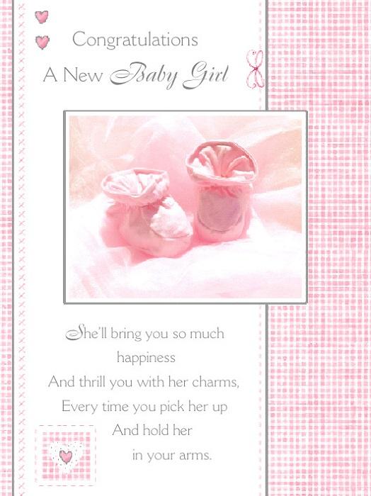 Baby Girl Greetings Card - A Precious Gift