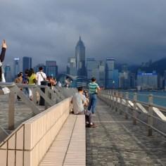 Die Skyline Hong Kongs.