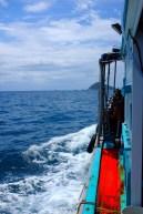 Mit dem Boot zum ersten Tauchgang.