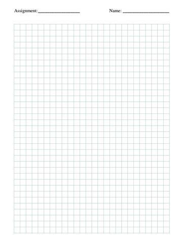 Departments / Math - full page grid paper
