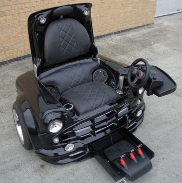 A mini cooper turned into a badass gaming chair