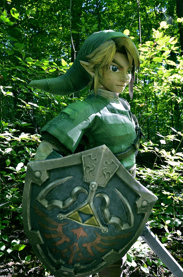 Create Own Name 3d Wallpaper Whoa A Life Size Papercraft Link From Legend Of Zelda