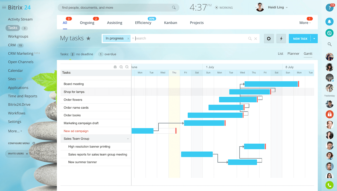 Free Online Group Calendar Sharing Outlook Shared Calendar Software Alternative To Exchange Bitrix24 Team Task Management
