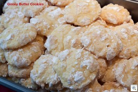 Gooey butter cookies