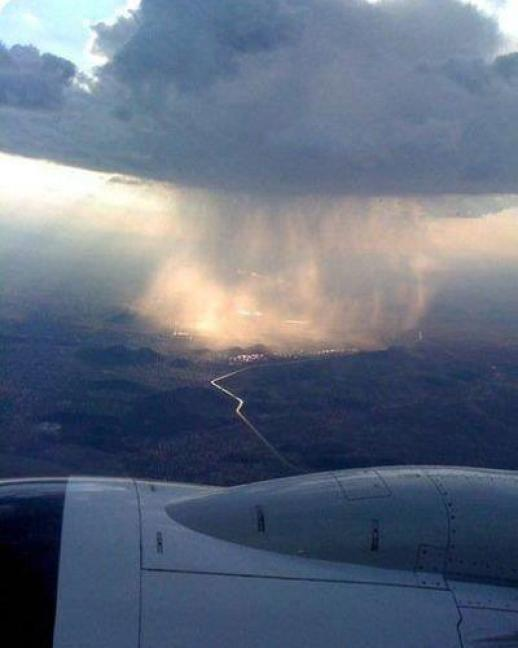 Rainstorm from the sky