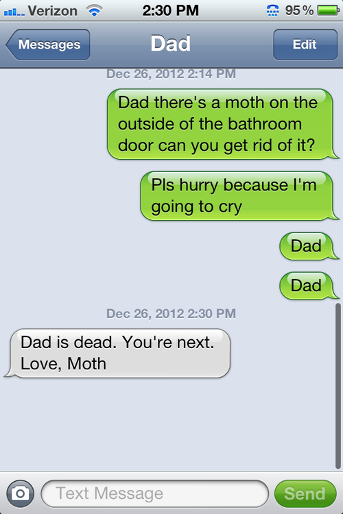 Dad vs moth