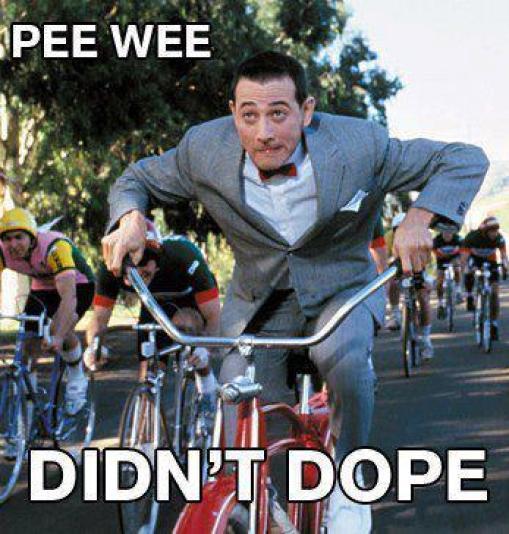 Pee wee didn't dope