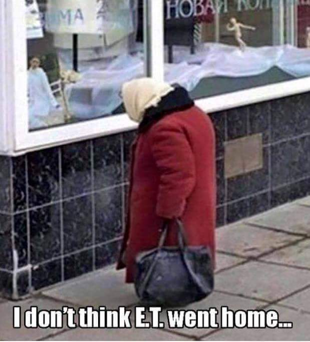 ET didn't go home