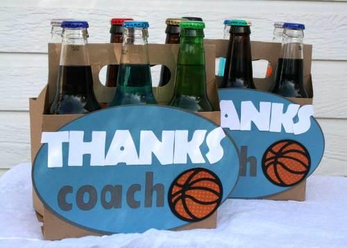 Easy Coaches Gift Idea: Vintage Soda Bottles