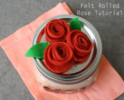 Felt Rolled Rose Tutorial