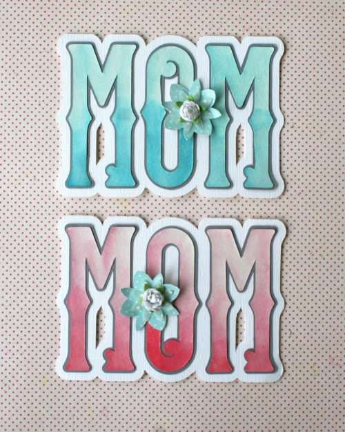 Watercolor Shaped Mother's Day Card