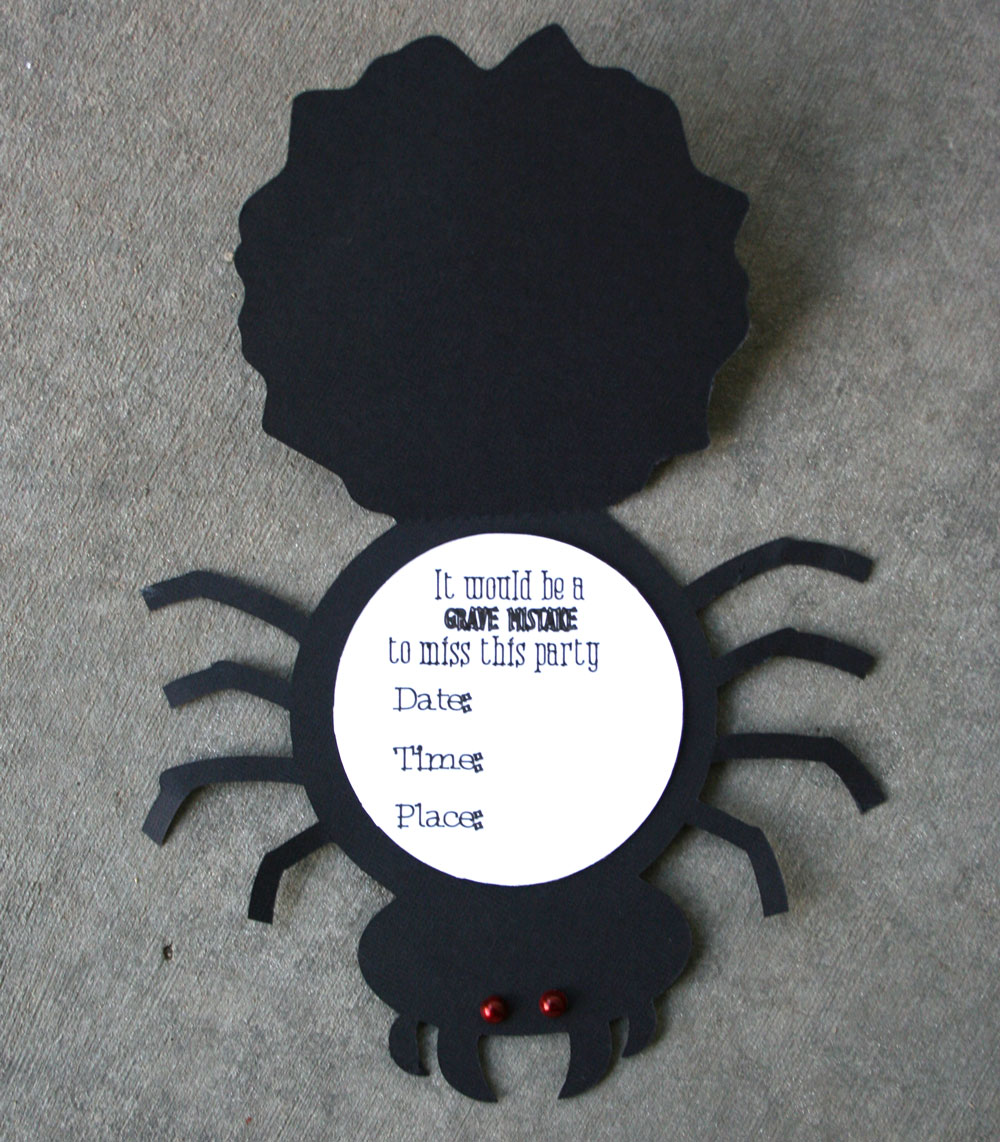 Spider Halloween Party Invitations – Bits & Pieces Paper Lab