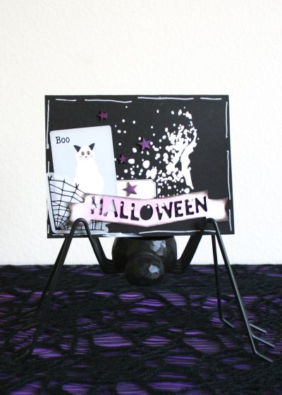 Spooky ways to distress your die cuts