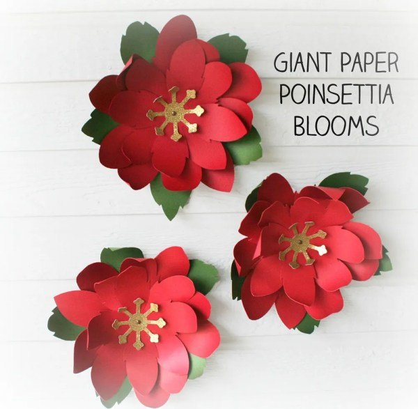 Paper Flower Poinsettia SVG Cutting Files
