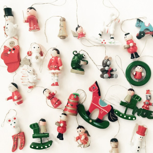 Vintage Christmas Ornaments Set