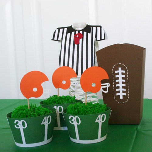 Football Themed Party Set. SVG Cut files for this football thened party idea.