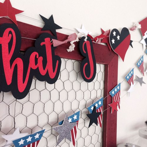 Make Your Own patriotic 4th of July Banner