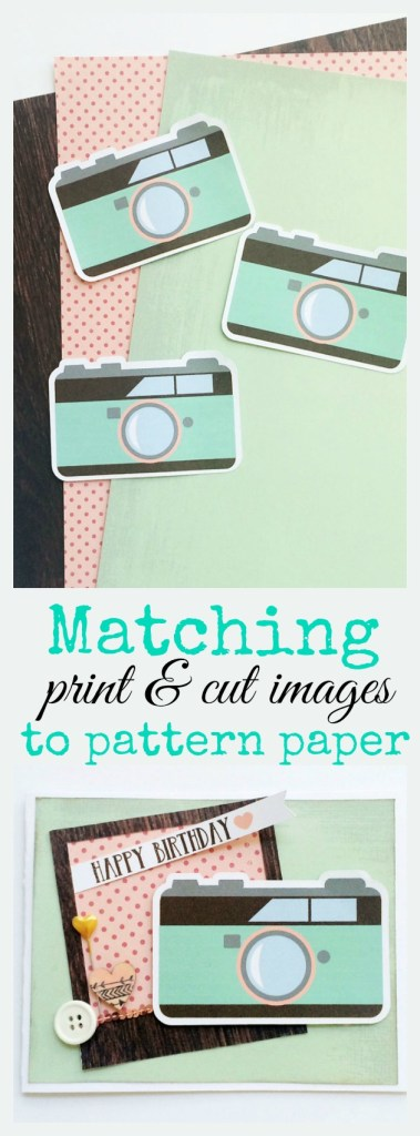 Match your print & cut projects to pattern papers