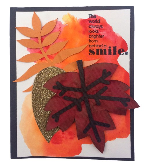 Fall Watercolor Card with watercolor background tutorial