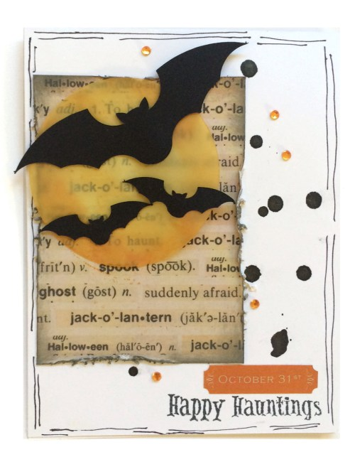 Halloween Bats Card with cuttable card sketch