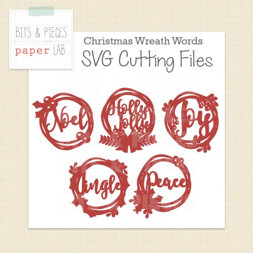 Christmas Wreath SVG cut files. Cut files for Silhouette and cut files for Cricut.