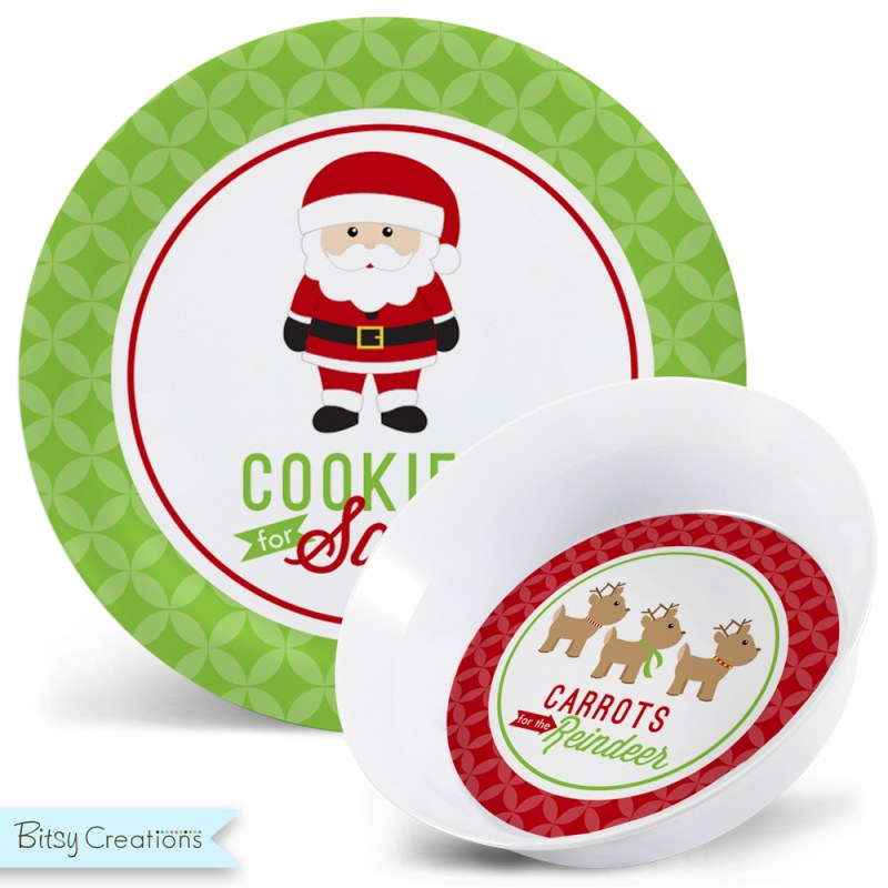 Large Of Cookies For Santa Plate