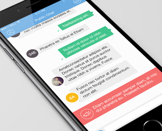 33 Clean Chat Interfaces for Mobile App Designers - Bittbox