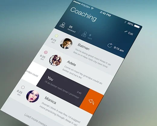 40 Examples of Flat iPhone App User Interfaces - Bittbox
